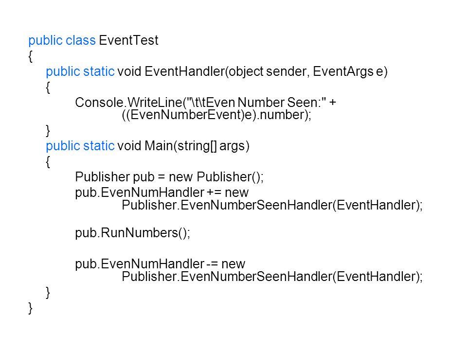 public class EventTest