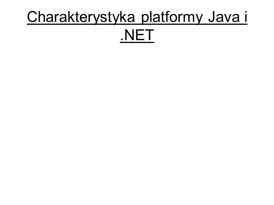 Charakterystyka platformy Java i .NET