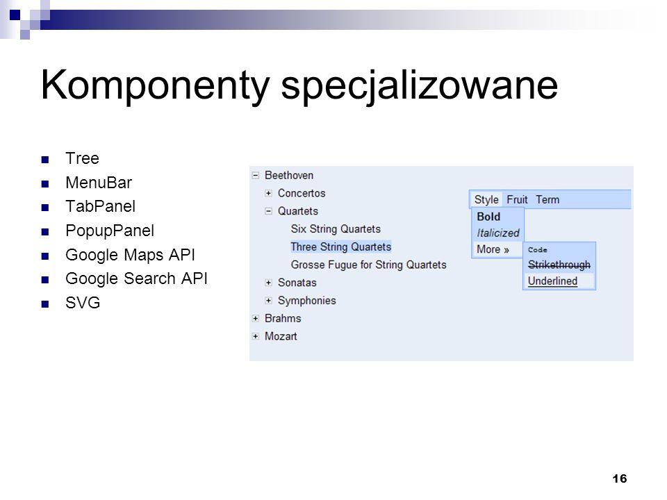 Komponenty specjalizowane