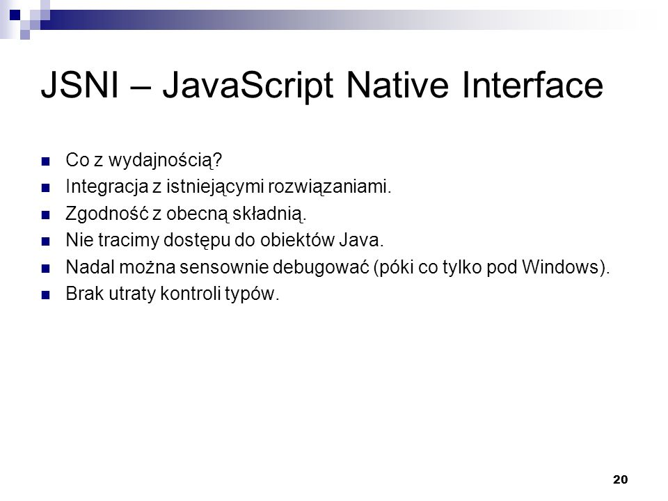 JSNI – JavaScript Native Interface