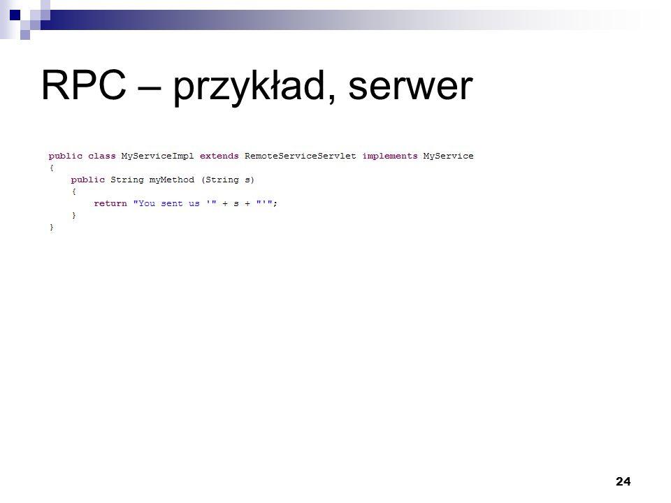 RPC – przykład, serwer