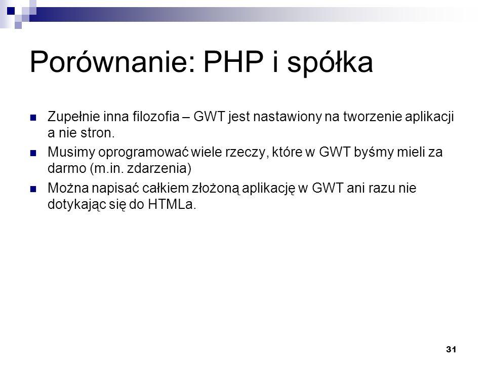 Porównanie: PHP i spółka