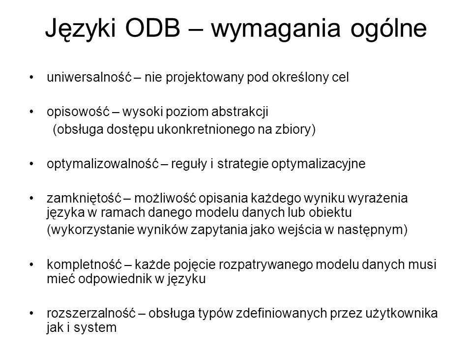Języki ODB – wymagania ogólne