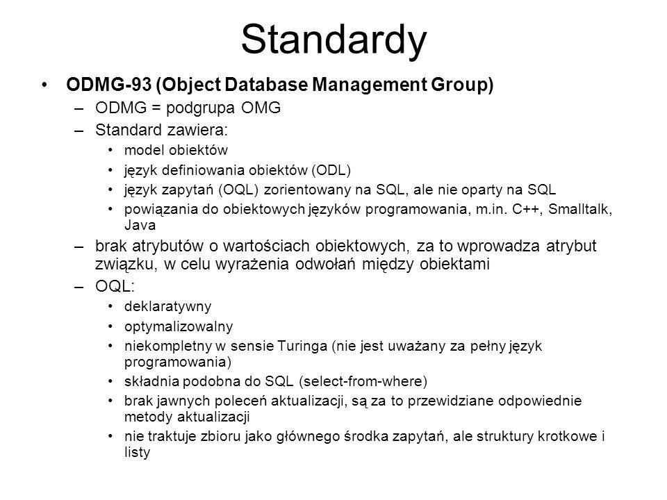 Standardy ODMG-93 (Object Database Management Group)