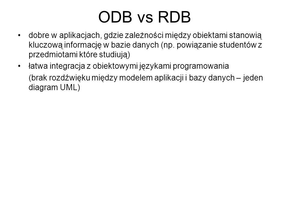 ODB vs RDB