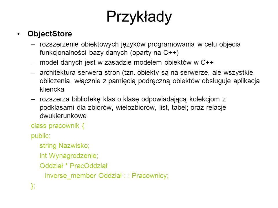Przykłady ObjectStore