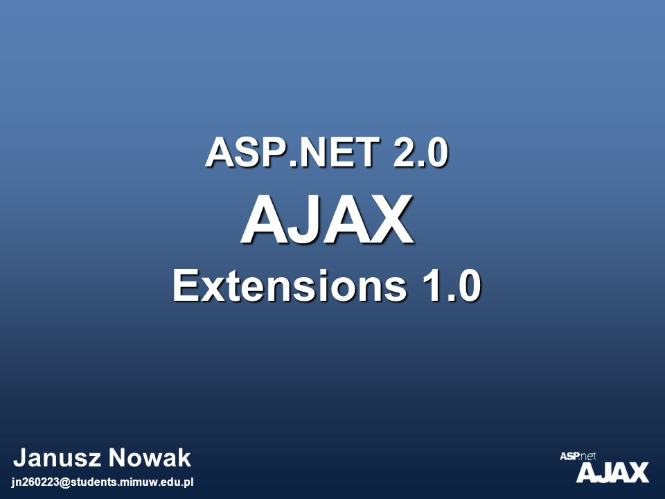 ASP.NET 2.0 AJAX Extensions 1.0
