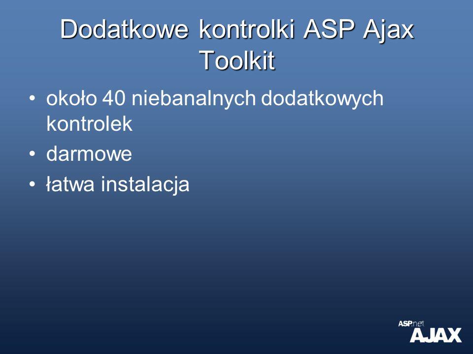 Dodatkowe kontrolki ASP Ajax Toolkit
