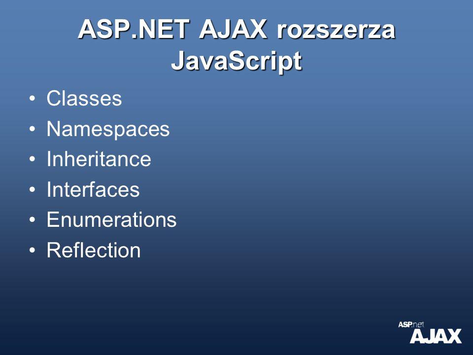 ASP.NET AJAX rozszerza JavaScript