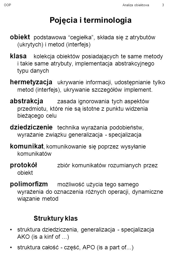 Pojęcia i terminologia