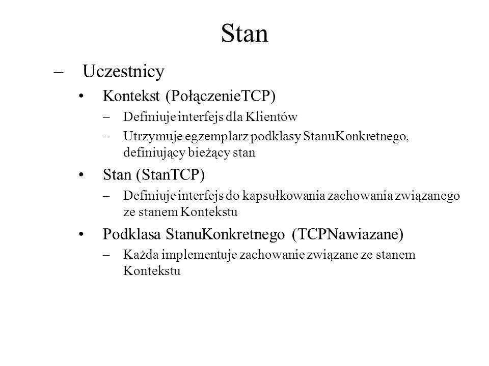 Stan Uczestnicy Kontekst (PołączenieTCP) Stan (StanTCP)