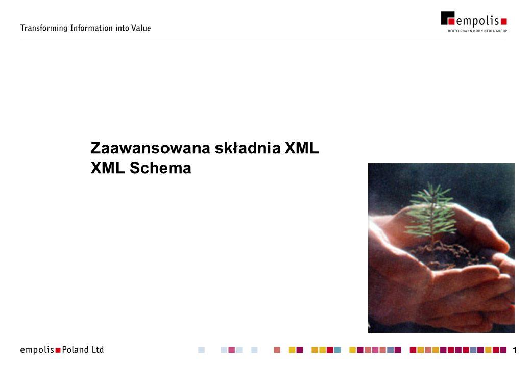 Zaawansowana składnia XML XML Schema