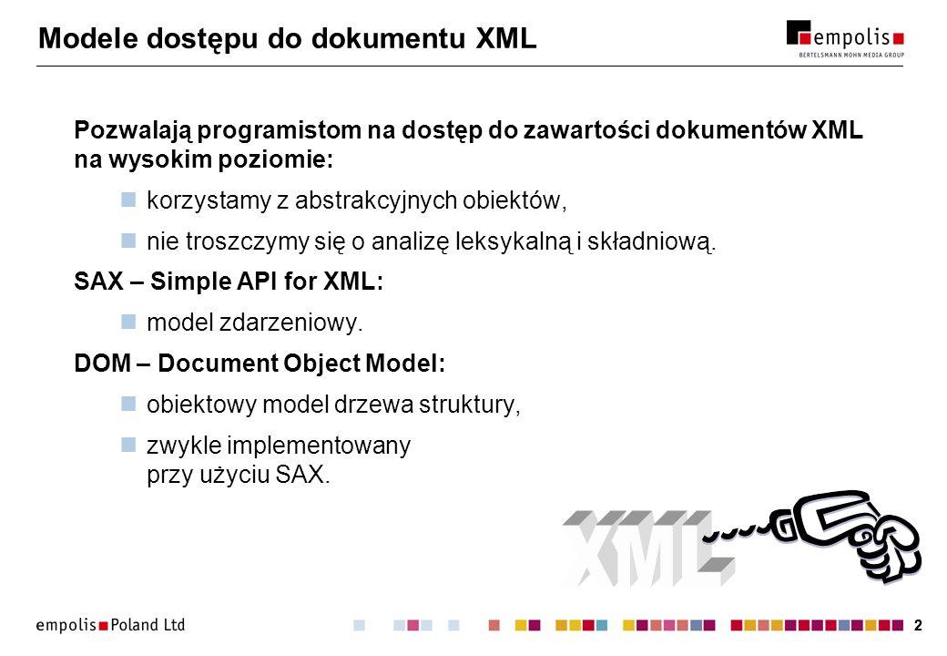 Modele dostępu do dokumentu XML
