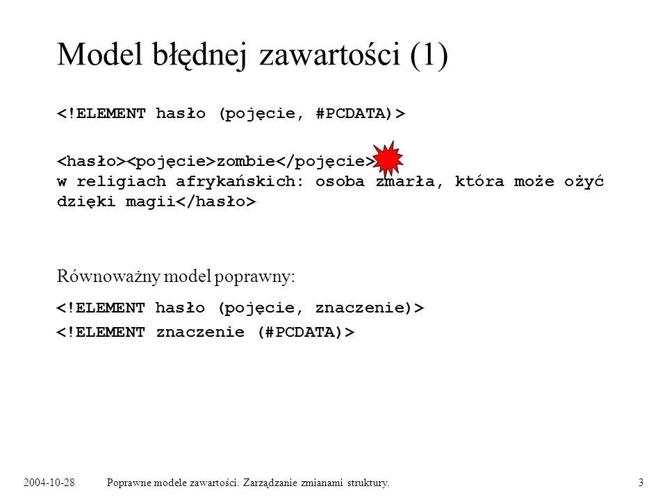 Model błędnej zawartości (1)
