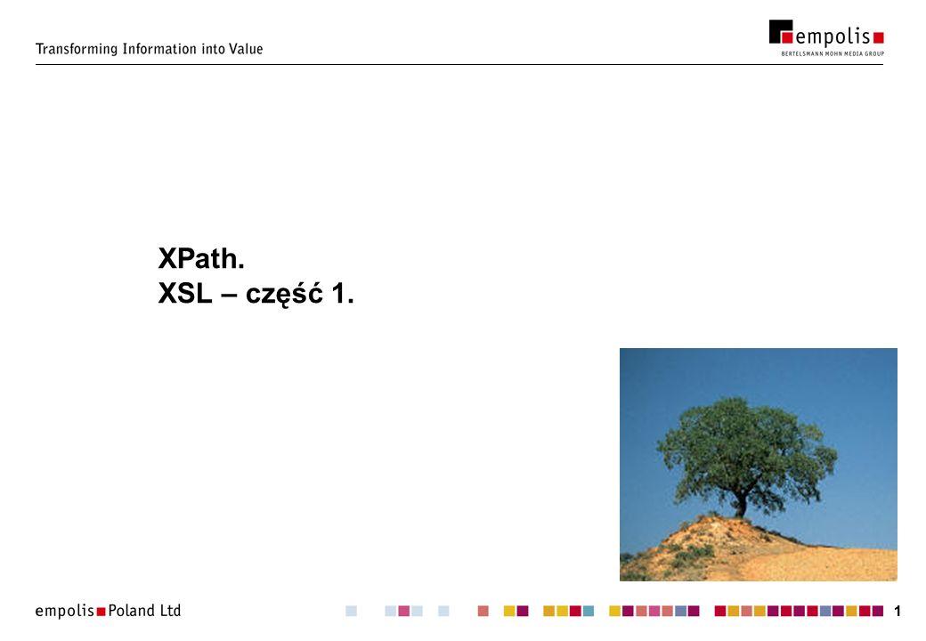 XPath. XSL – część 1.
