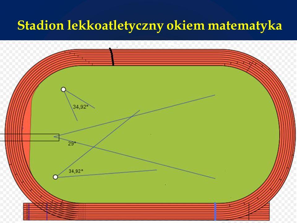 Stadion lekkoatletyczny okiem matematyka