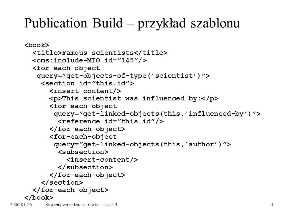 Publication Build – przykład szablonu