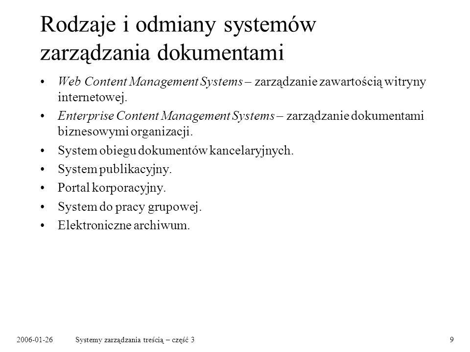 Rodzaje i odmiany systemów zarządzania dokumentami