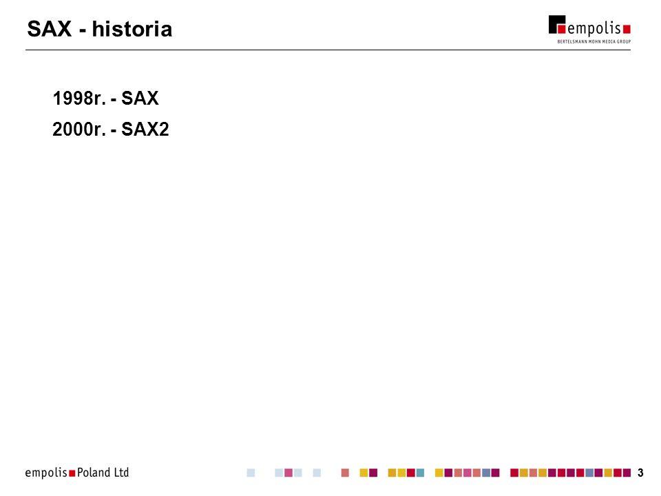 SAX - historia 1998r. - SAX 2000r. - SAX2