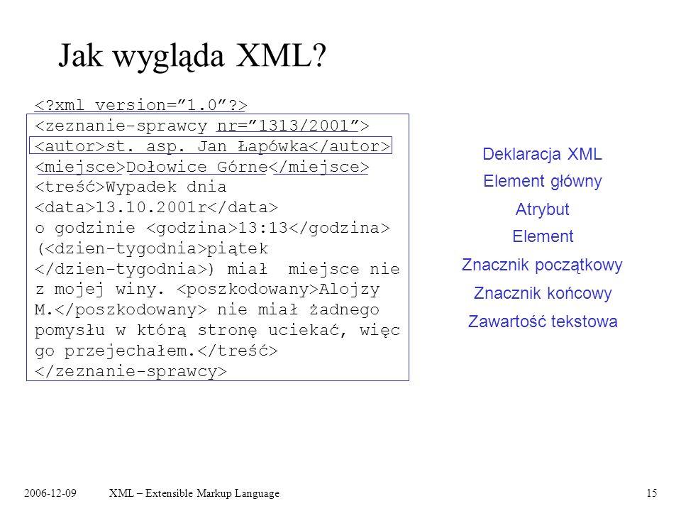 Jak wygląda XML