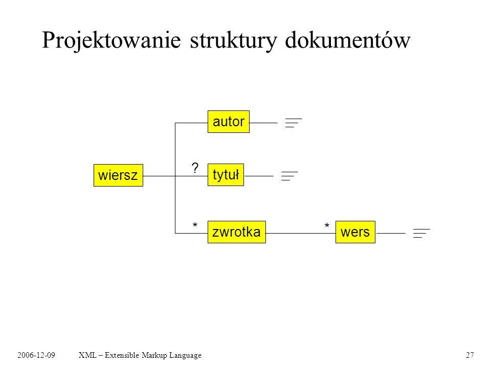 Projektowanie struktury dokumentów