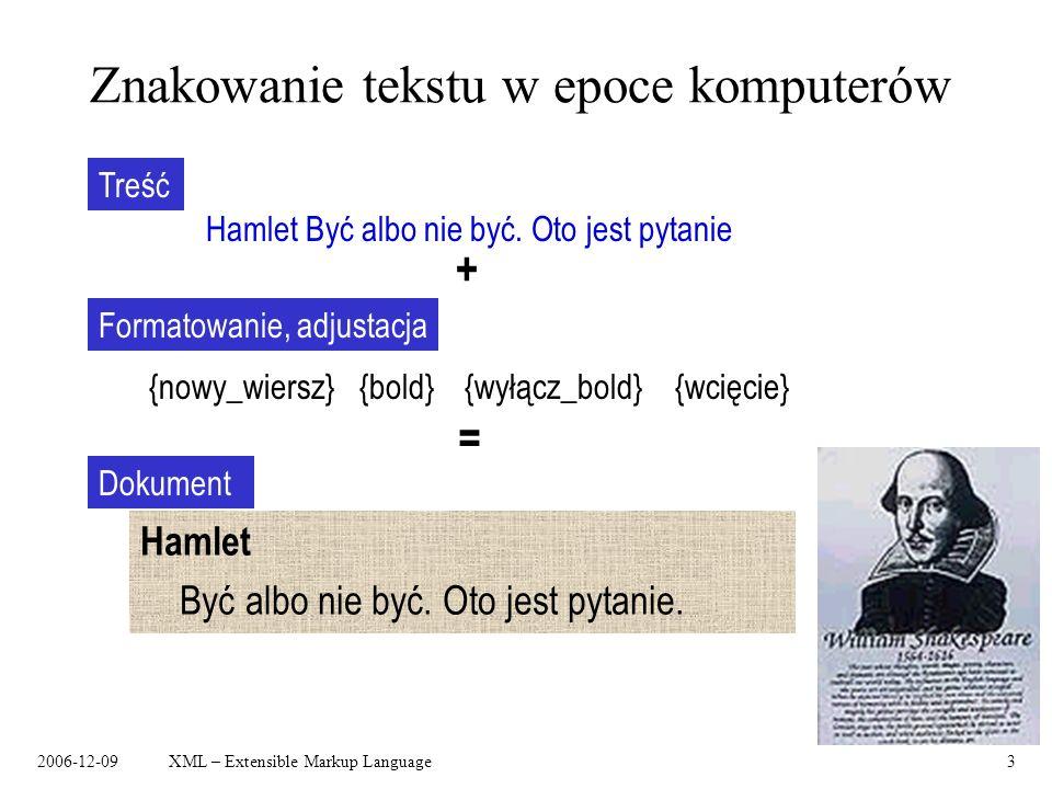 Znakowanie tekstu w epoce komputerów
