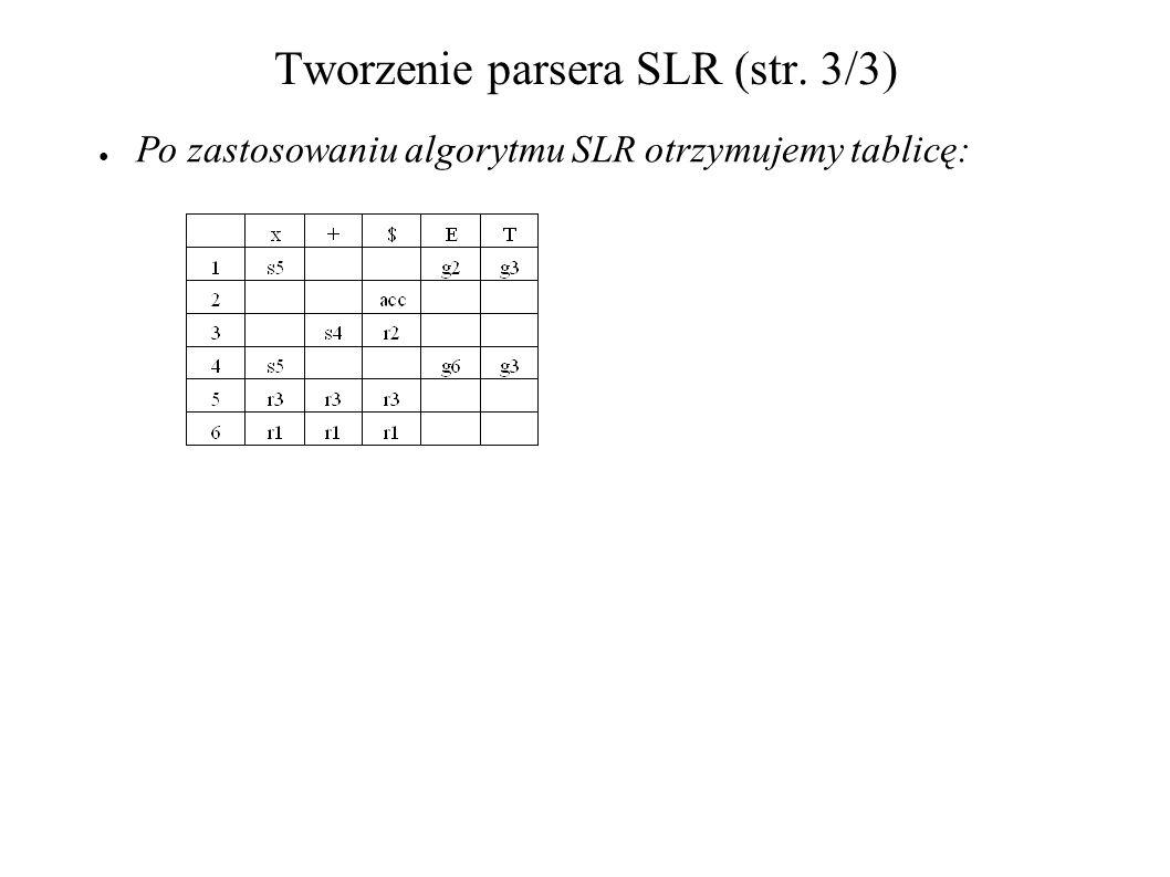 Tworzenie parsera SLR (str. 3/3)