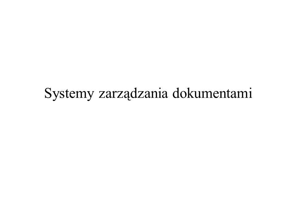 Systemy zarządzania dokumentami