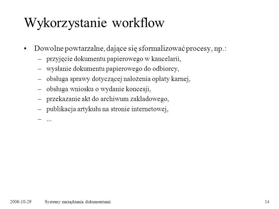 Wykorzystanie workflow