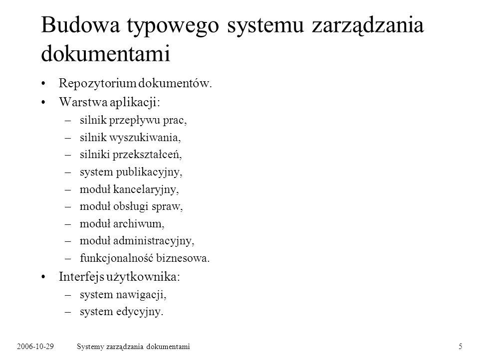 Budowa typowego systemu zarządzania dokumentami