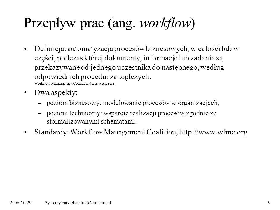 Przepływ prac (ang. workflow)