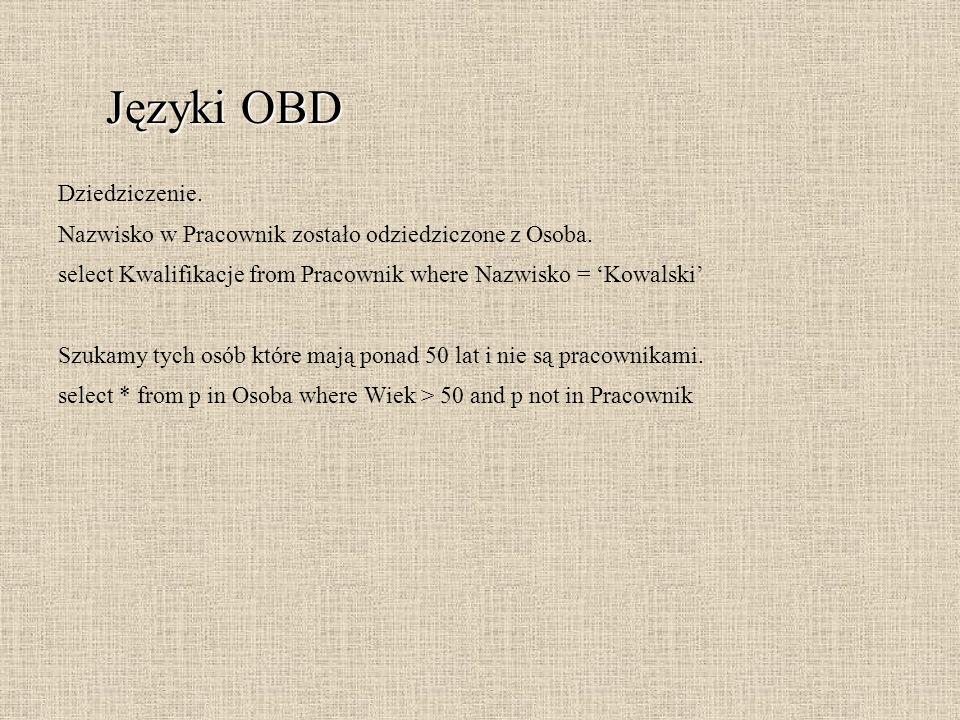 Języki OBD Dziedziczenie.
