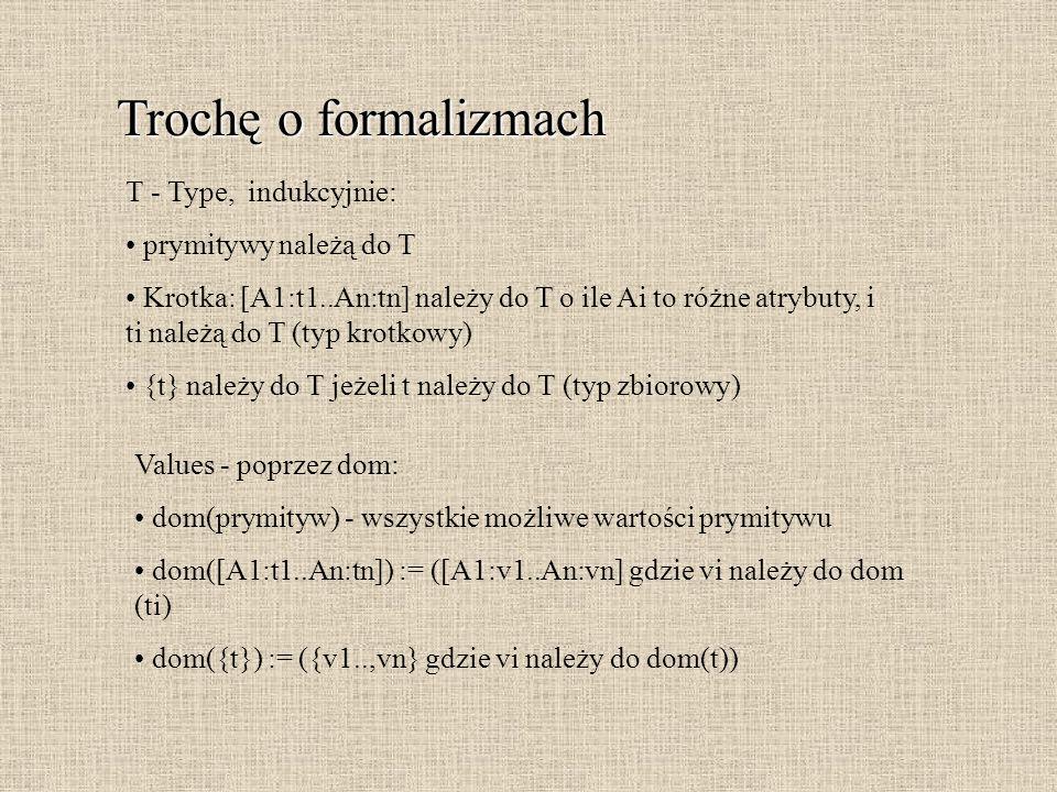 Trochę o formalizmach T - Type, indukcyjnie: prymitywy należą do T