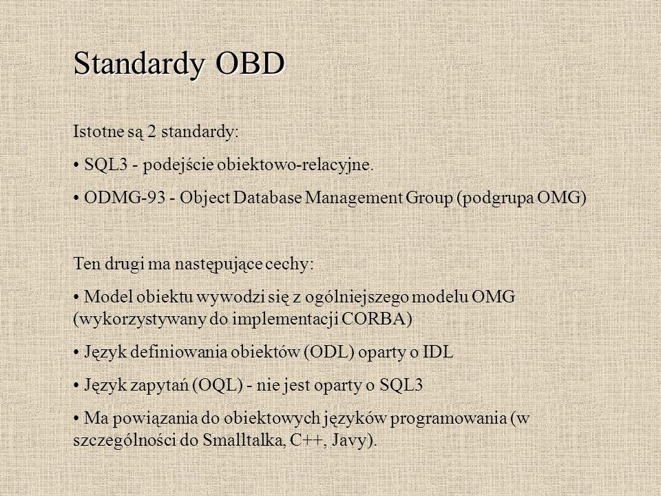 Standardy OBD Istotne są 2 standardy: