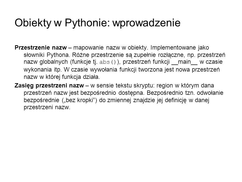 Obiekty w Pythonie: wprowadzenie