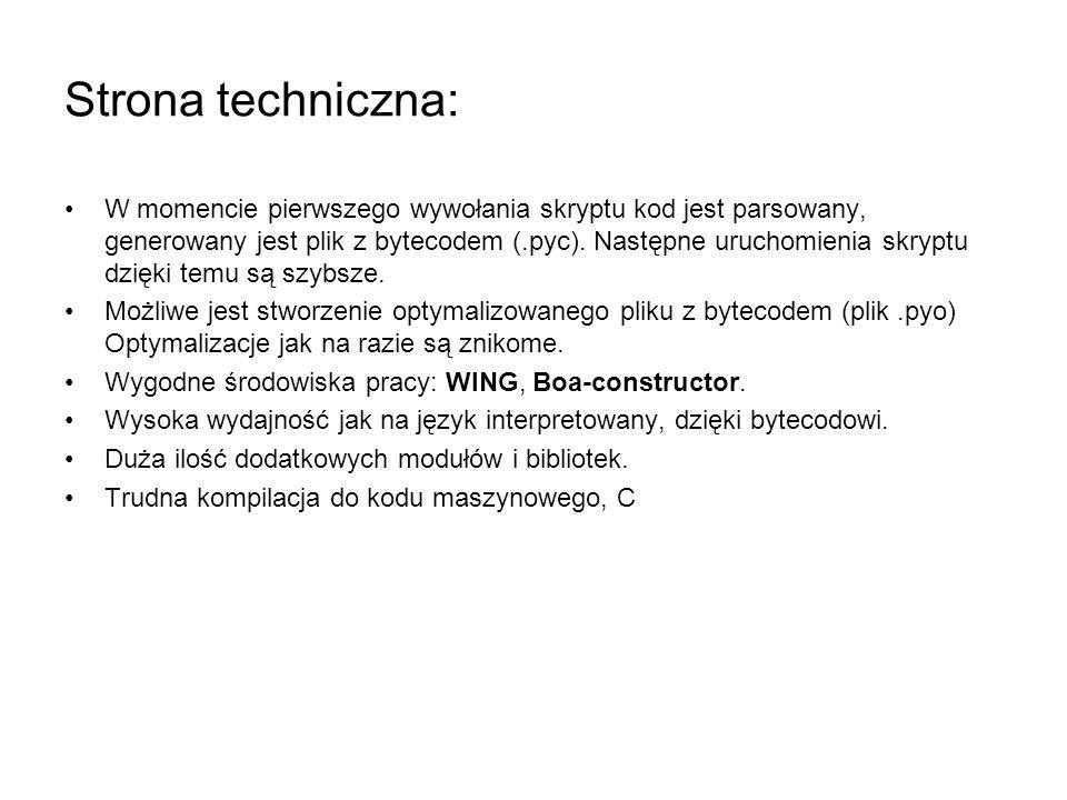Strona techniczna: