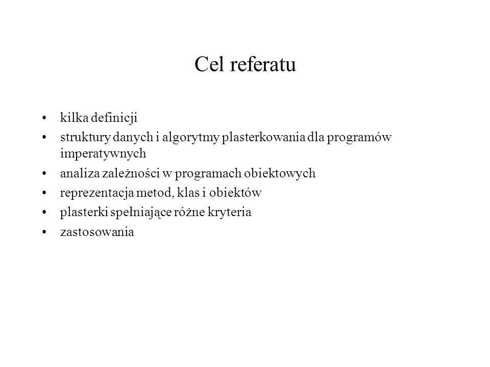 Cel referatu kilka definicji