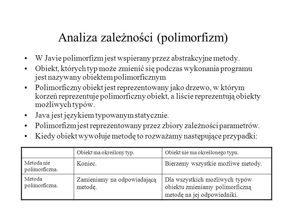 Analiza zależności (polimorfizm)