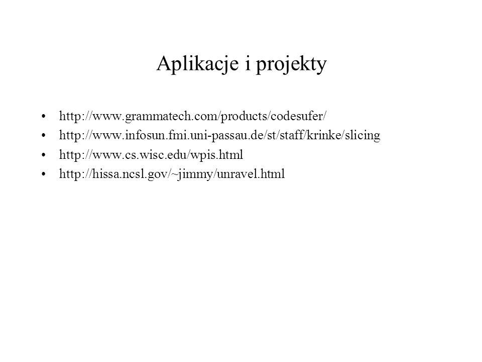 Aplikacje i projekty http://www.grammatech.com/products/codesufer/