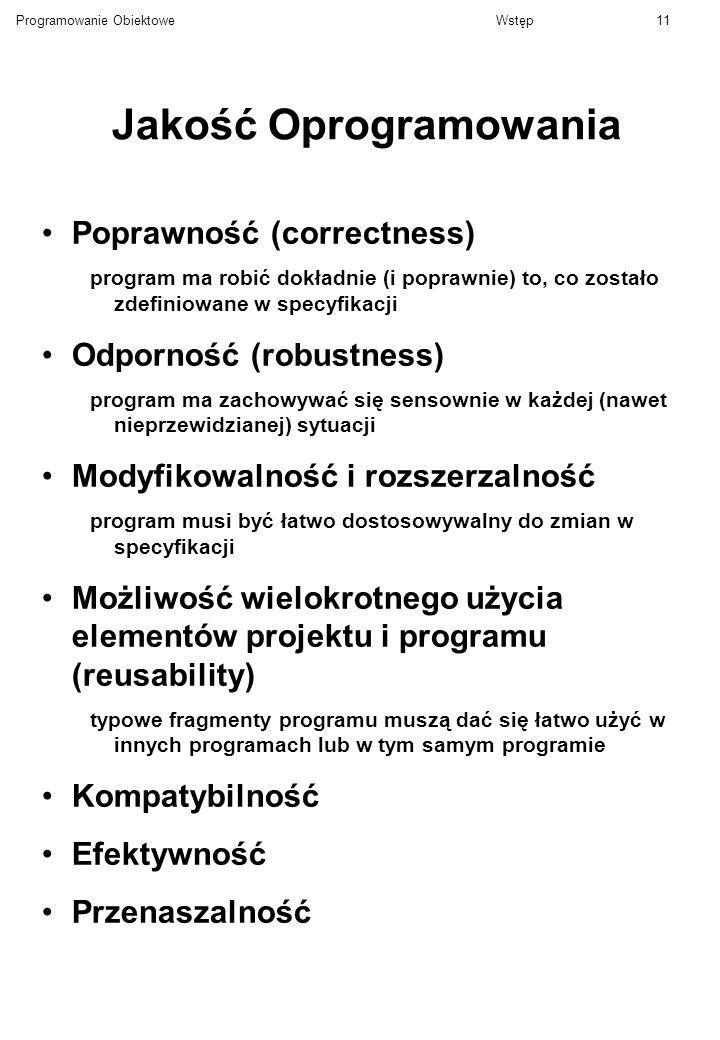 Jakość Oprogramowania
