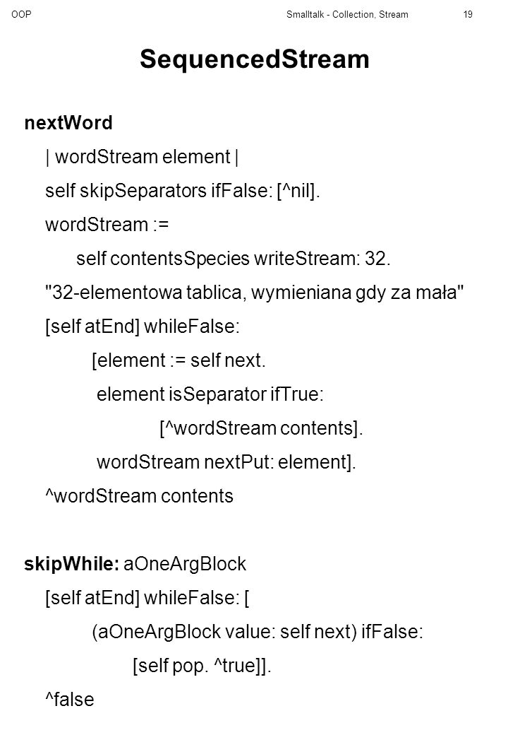 SequencedStream nextWord | wordStream element |