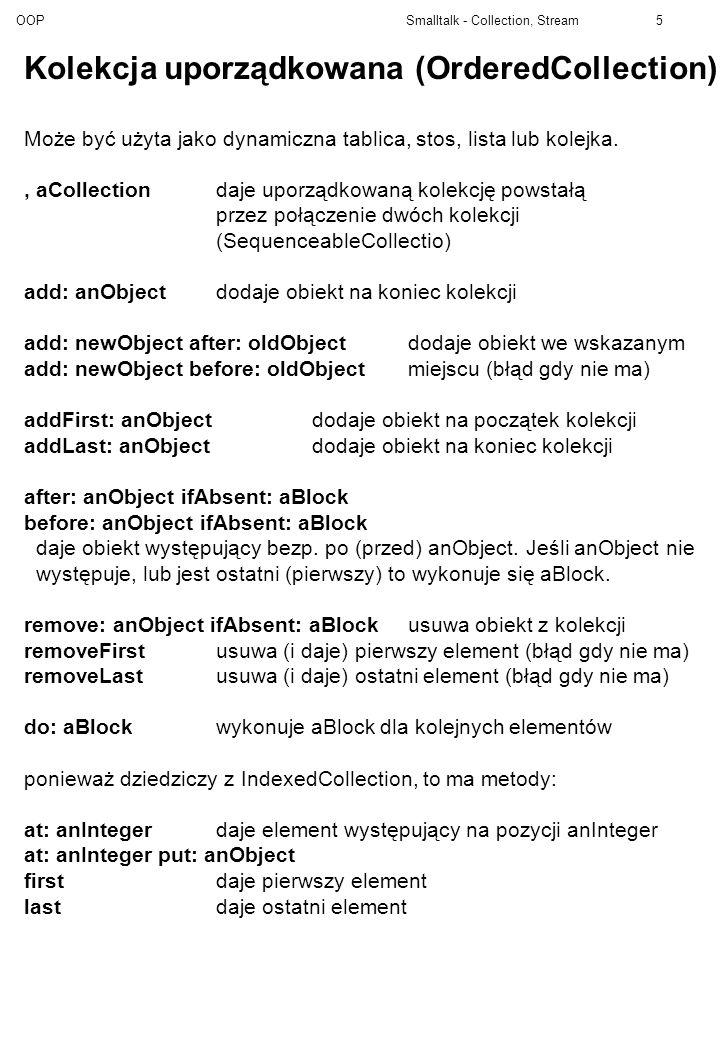 Kolekcja uporządkowana (OrderedCollection)