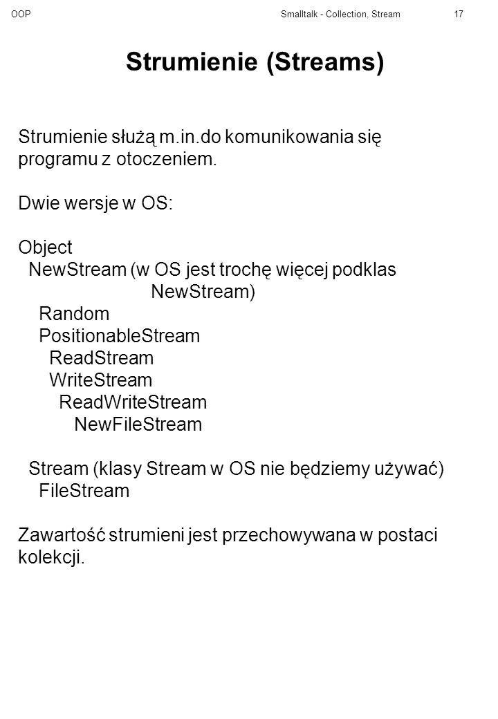 Strumienie (Streams) Strumienie służą m.in.do komunikowania się