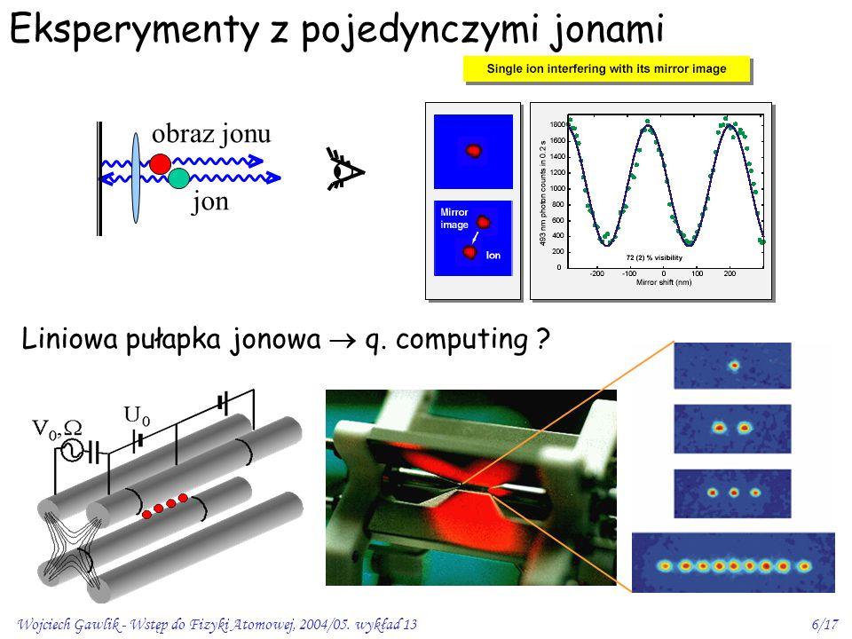 Eksperymenty z pojedynczymi jonami