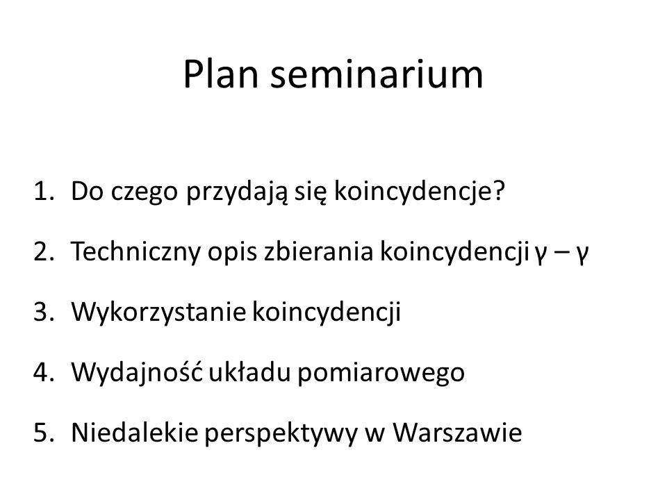 Plan seminarium Do czego przydają się koincydencje