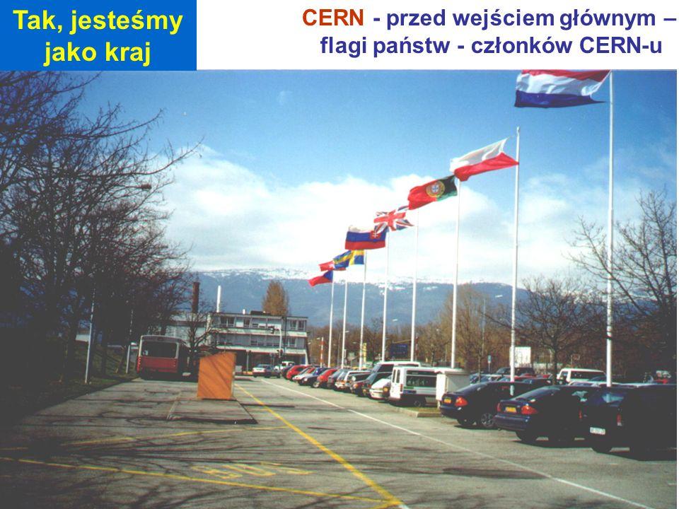 CERN - przed wejściem głównym – flagi państw - członków CERN-u