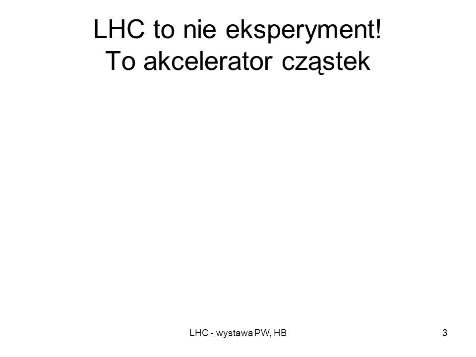 LHC to nie eksperyment! To akcelerator cząstek