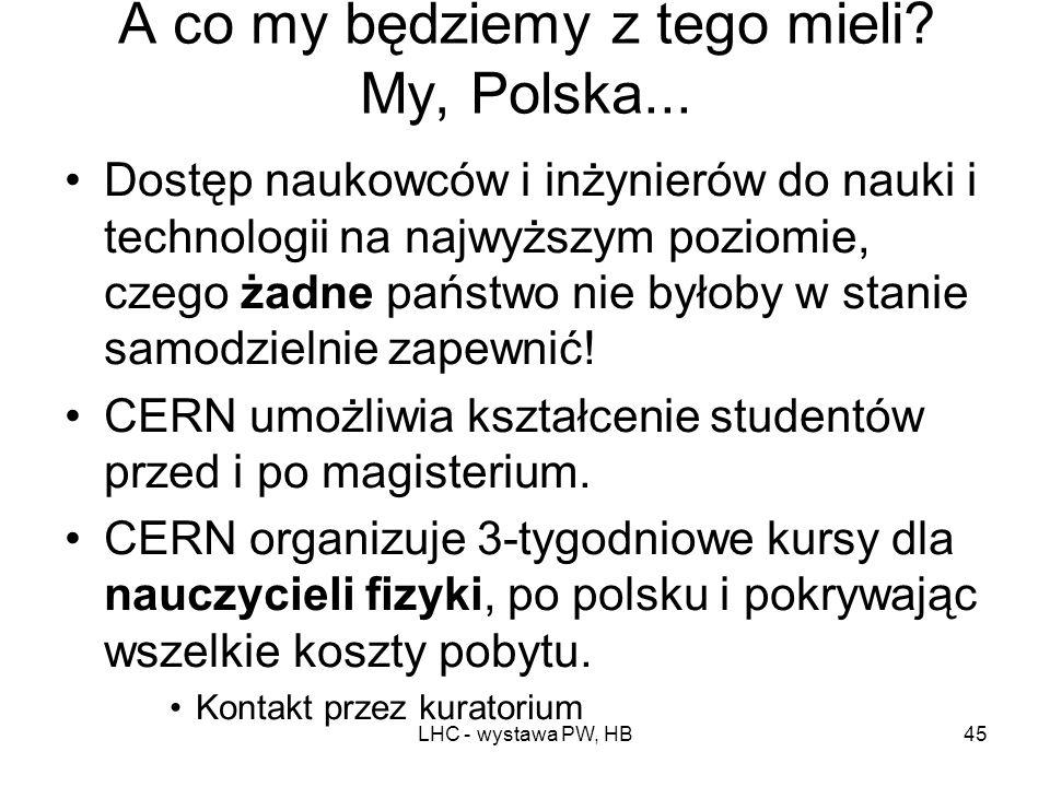 A co my będziemy z tego mieli My, Polska...
