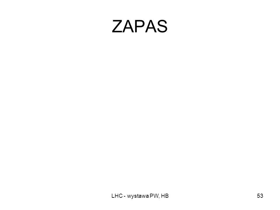 ZAPAS LHC - wystawa PW, HB