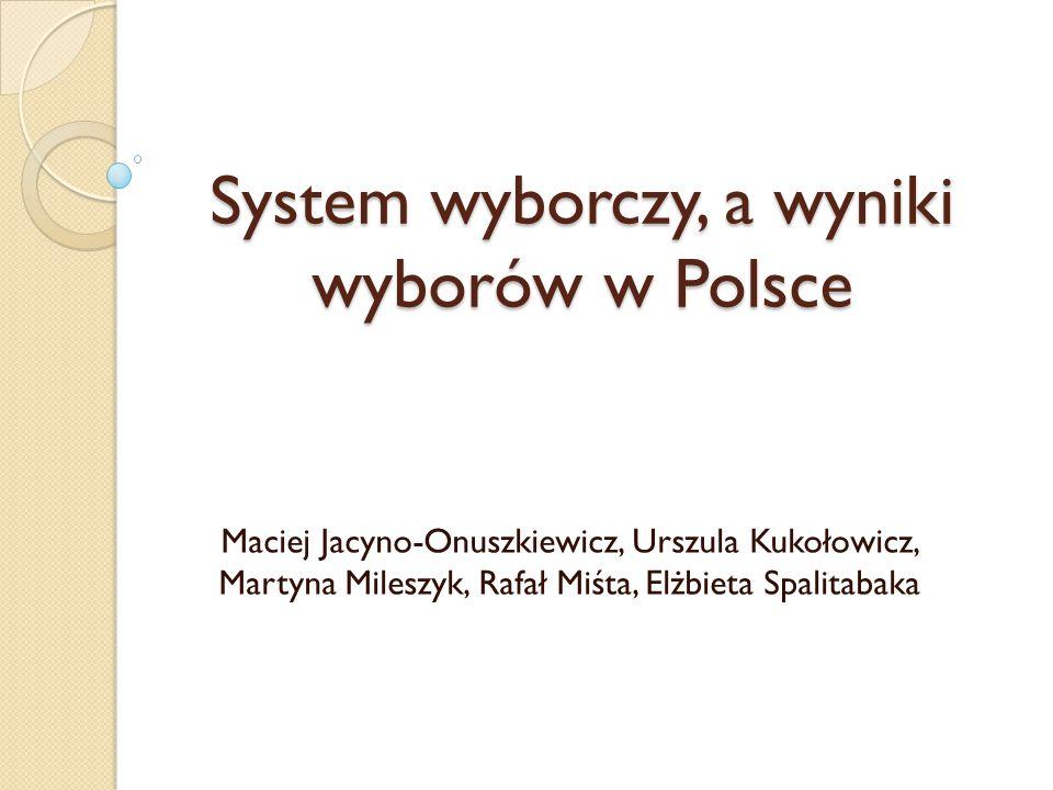 System wyborczy, a wyniki wyborów w Polsce